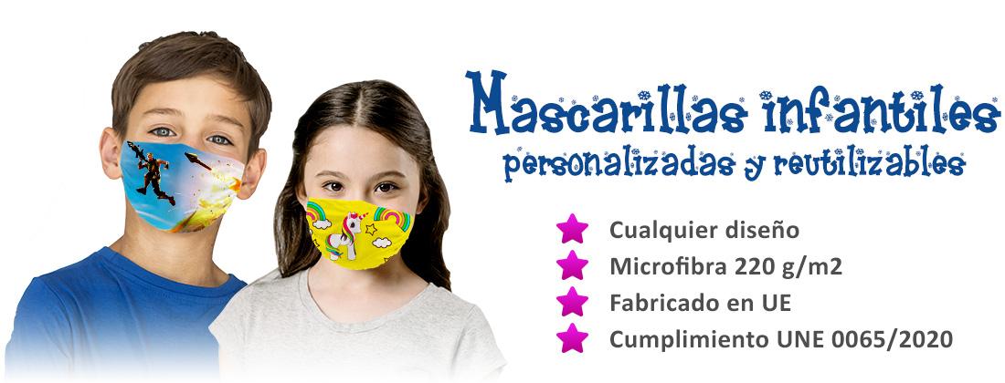 Mascarillas reutilizable niños