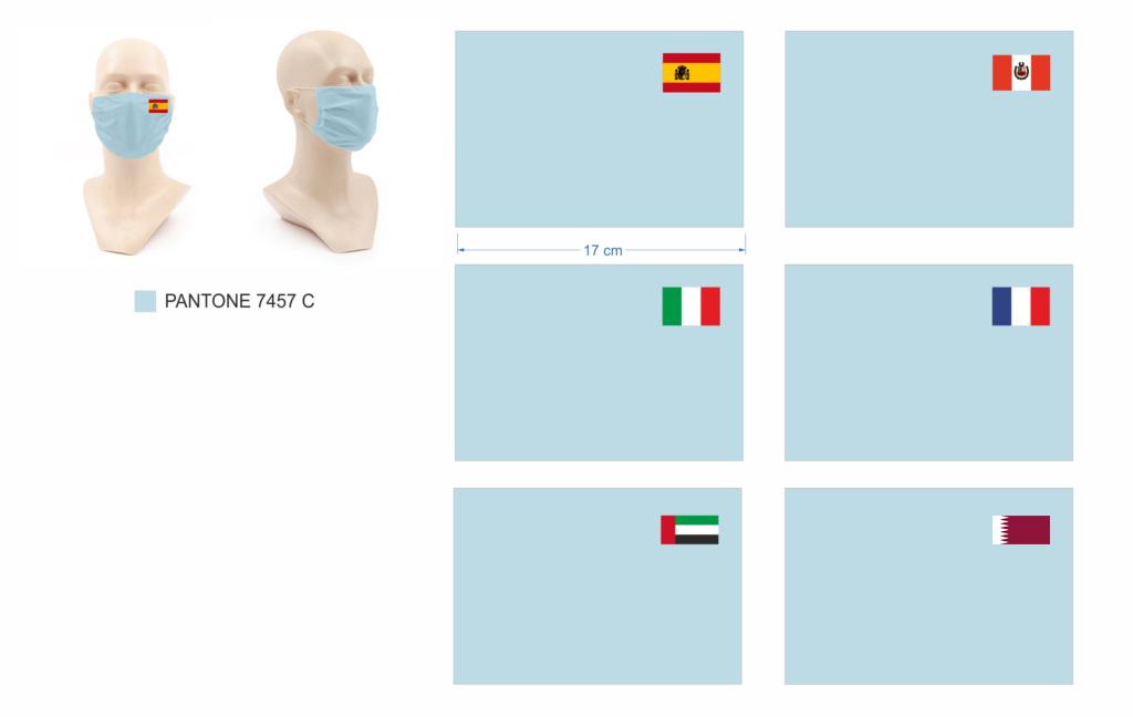 Mascarillas personalizadas con banderas